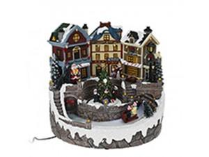 Χριστουγεννιάτικο σπιτάκι φωτιζόμενο 23x23x22 εκ