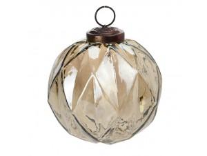 Διάφανη Χριστουγεννιάτικη Μπάλα Γυάλινη 10 εκ