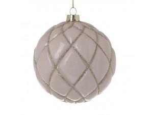 Χριστουγεννιάτικη Μπάλα Σωμόν Γυάλινη 10 εκ