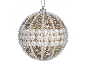 Χριστουγεννιάτικη Μπάλα με πέρλες 8 εκ