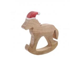 Χριστουγεννιάτικο Διακοσμητικό Αλογάκι 24 εκ.