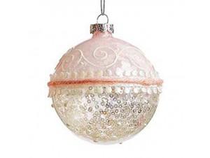 Χριστουγεννιάτικη Μπάλα Σομόν Γυάλινη 8 εκ