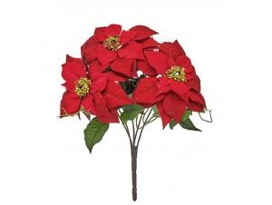 Χριστουγεννιάτικο Μπουκέτο Αλεξανδρινά Λουλούδια 40 εκ.