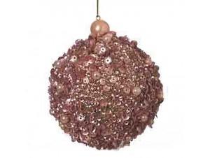 Χριστουγεννιάτικη μπάλα καφέ 8 εκ.