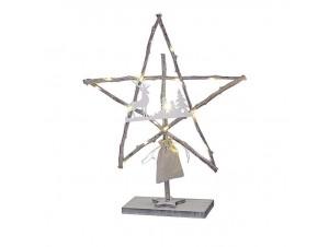Χριστουγεννιάτικο ξύλινο αστέρι 45 εκ.