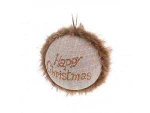 Χριστουγεννιάτικη μπάλα με γούνα 9 εκ.