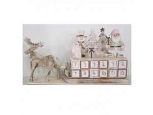 Χριστουγεννιάτικο Διακοσμητικό Έλκηθρο με Παράσταση 44x23 εκ.
