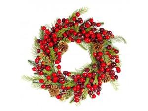 Χριστουγεννιάτικο στεφάνι  45 εκ.