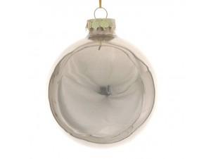 Χριστουγεννιάτικη Μπάλα σαμπανί Γυάλινη 8 εκ