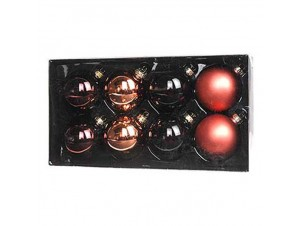 Set 8 τμχ. Γυάλινες Χριστουγεννιάτικες Μπάλες