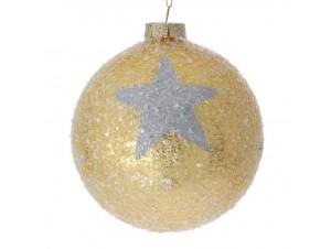 Χριστουγεννιάτικη Μπάλα χρύσή Γυάλινη 10 εκ