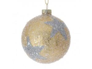 Χρυσή Χριστουγεννιάτικη Μπάλα Γυάλινη 8 εκ
