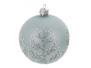 Χριστουγεννιάτικη μπάλα μπλε 8 εκ.