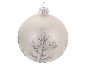 Χριστουγεννιάτικη μπάλα μπεζ 10 εκ.
