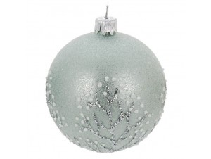 Χριστουγεννιάτικη μπάλα μπλε 10 εκ.