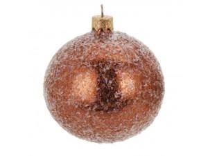 Χριστουγεννιάτικη μπάλα χάλκινη 8 εκ.