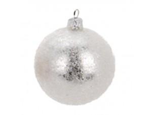 Χριστουγεννιάτικη μπάλα ασημί 8 εκ.