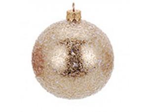 Χριστουγεννιάτικη μπάλα χρυσή 10 εκ