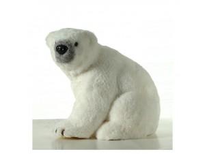 Χριστουγεννιάτικη Διακοσμητική Λευκή Αρκούδα Βιτρίνας 28 εκ