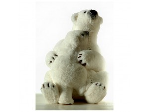 Χριστουγεννιάτικη Διακοσμητική Λευκή Αρκούδα Βιτρίνας 45 εκ