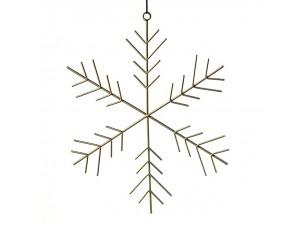 Μεταλλικό Χριστουγεννιάτικο στολίδι νιφάδα