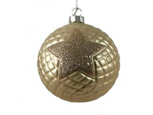 Χριστουγεννιάτικη Μπάλα με αστέρι Γυάλινη 00 εκ