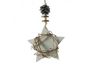 Χριστουγεννιάτικο Στολίδι αστέρι  Ξύλινο