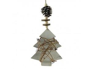 Χριστουγεννιάτικο Στολίδι Δεντράκι Ξύλινο