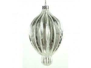 Χριστουγεννιάτικη Μπάλα ασημί Γυάλινη 00 εκ