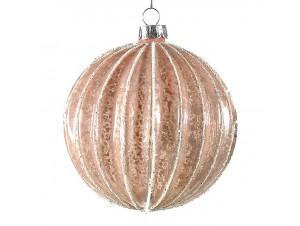 Χριστουγεννιάτικη Μπάλα Ροζ Γυάλινη 10 εκ