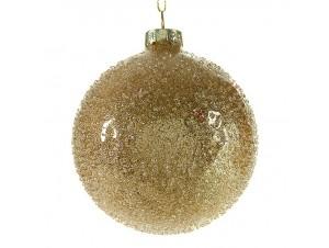 Χριστουγεννιάτικη Μπάλα χρυσή Γυάλινη 10 εκ