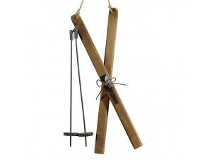 Χριστουγεννιάτικο ξύλινο διακοσμητικό Σκι  9,5 εκ.