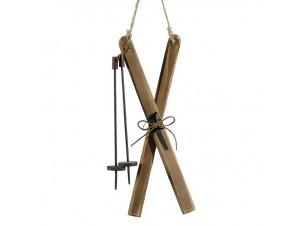 Χριστουγεννιάτικο ξύλινο διακοσμητικό Σκι  12,5 εκ.