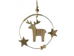 Χριστουγεννιάτικο ξύλινο διακοσμητικό 12 εκ