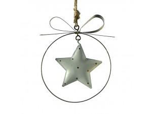 Μεταλλικό Χριστουγεννιάτικο στολίδι αστέρι