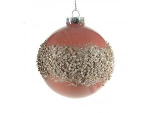 Χριστουγεννιάτικη Μπάλα Φούξια Γυάλινη 8 εκ