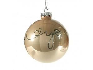 Χριστουγεννιάτικη Μπάλα σαμπανιζέ Γυάλινη 8 εκ