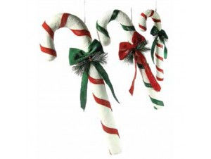 Χριστουγεννιάτικο στολίδι γλυφιτζούρι 42 εκ.