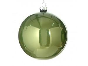 Χριστουγεννιάτικη Μπάλα πράσινη Γυάλινη 8 εκ