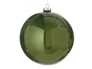 Χριστουγεννιάτικη Μπάλα πράσινη Γυάλινη 15 εκ