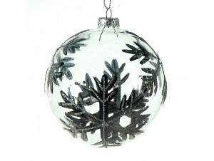 Χριστουγεννιάτικη Μπάλα διάφανη Γυάλινη 10 εκ