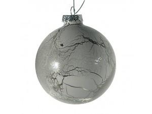 Χριστουγεννιάτικη Μπάλα αντικέ Γυάλινη 8 εκ