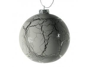 Χριστουγεννιάτικη Μπάλα αντικέ Γυάλινη 10 εκ