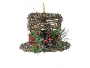 Χριστουγεννιάτικο Κρεμαστό καπέλο 13 εκ.