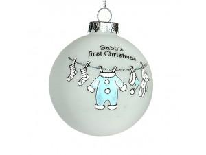 Χριστουγεννιάτικη μπάλα παιδική Γυάλινη 8 εκ
