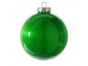 Χριστουγεννιάτικη Μπάλα Πράσινη Γυάλινη 10 εκ