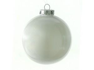 Χριστουγεννιάτικη Μπάλα Άσπρη  10 εκ