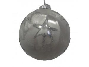Χριστουγεννιάτικη Μπάλα Γυάλινη 8 εκ.