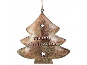 Χριστουγεννιάτικο διακοσμητικό στολίδι 11x11x2 εκ.
