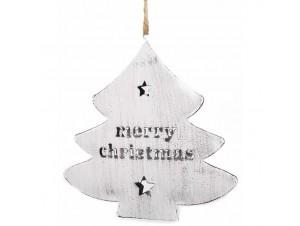 Χριστουγεννιάτικο στολίδι Δέντρο 12x12x1 εκ.